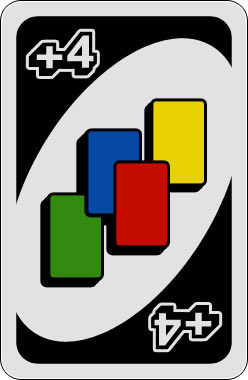 Uno +4 Karte